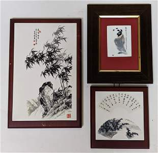 Three Chinese Porcelain Wall Hangings