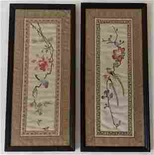 Two Framed Chinese Embroideries