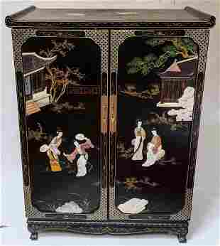 Tall Chinese Two-Door Cabinet