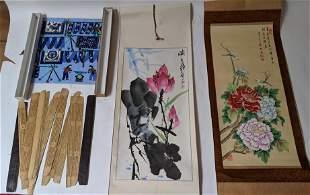 Five Paintings, One Wood Slat Book
