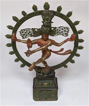 Asian Hindu Bronze of Shiva Natarzaja