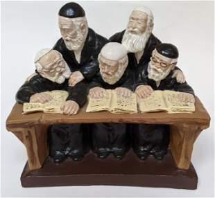 Plaster Figure of Five Rabbis