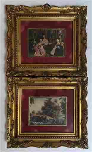 Pair of Italian Framed Miniature Paintings