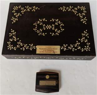 Two Presentation Boxes from Ferdinand Marcos