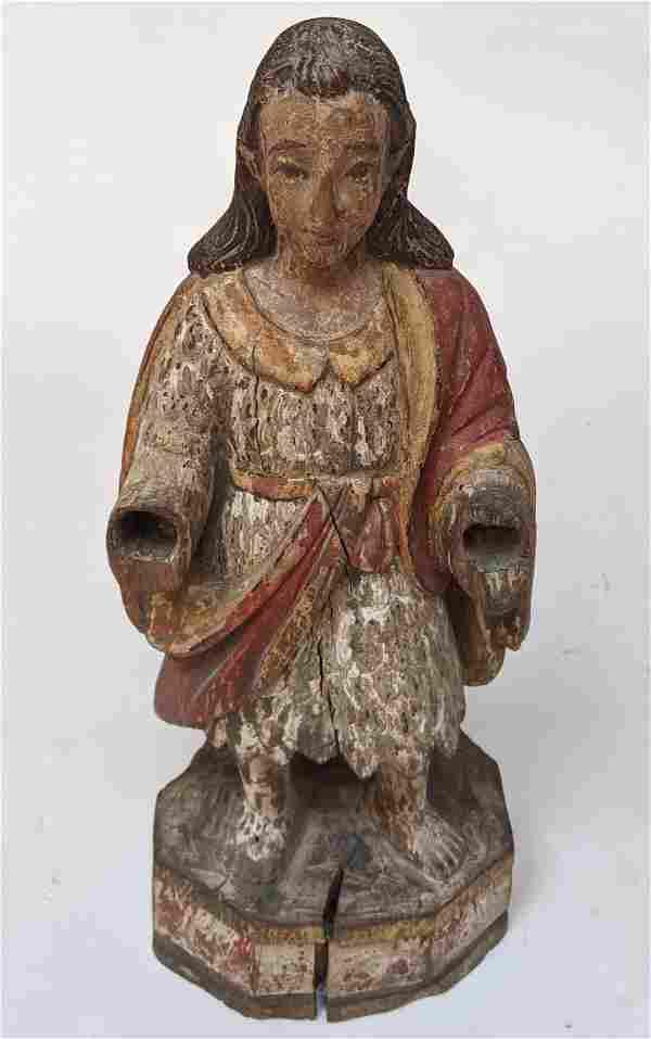 Antique Carved Wood Santos Figure