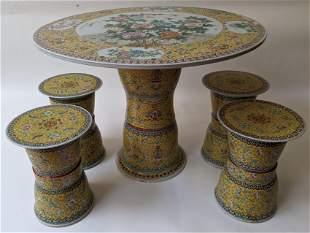 5-Pc. Chinese Porcelain Garden Set
