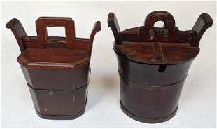 Two Asian Lunch Baskets / Boxes
