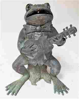 Bronze Outdoor Frog Fountain / Sculpture