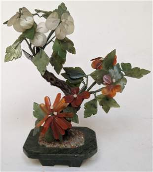 Chinese Hardstone Plant with Mixed Color Flowers