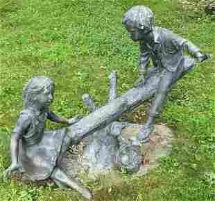 Large Outdoor Bronze Garden Statue
