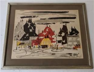 """""""Paris 1936"""" (?) - Lithograph"""