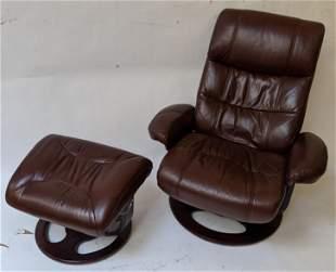 Modern Reclining Chair & Ottoman