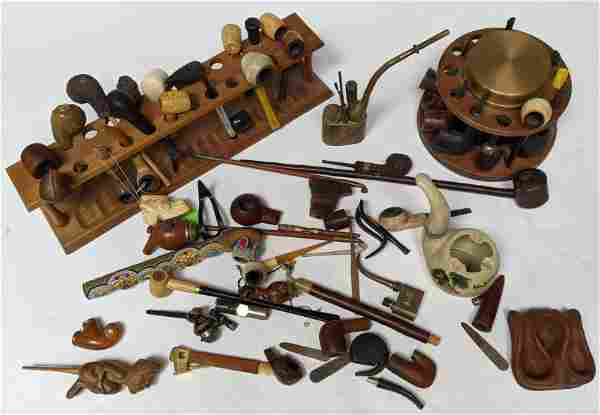 Large Lot of Pipes and Related Articles