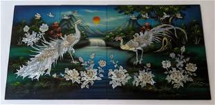 Asian Lacquered Wall Plaque