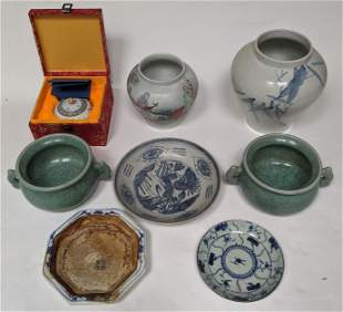 Seven Chinese Porcelain Articles