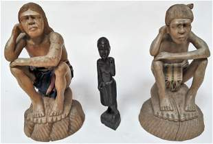 Three African Wood Figures