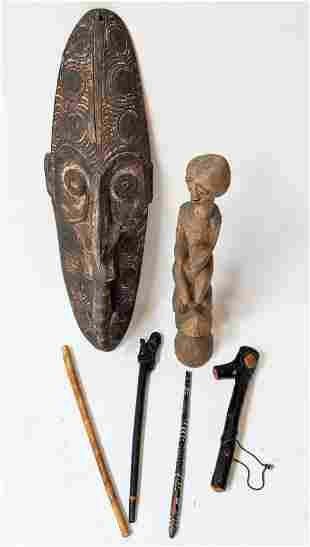 Six African Wood Carvings