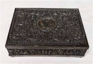 .800 Silver Covered Box