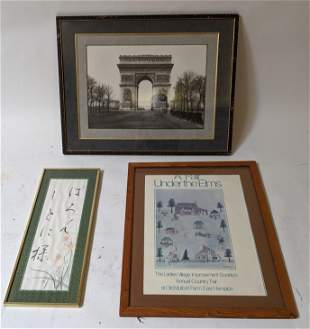 Three Framed Works: Photo and Others