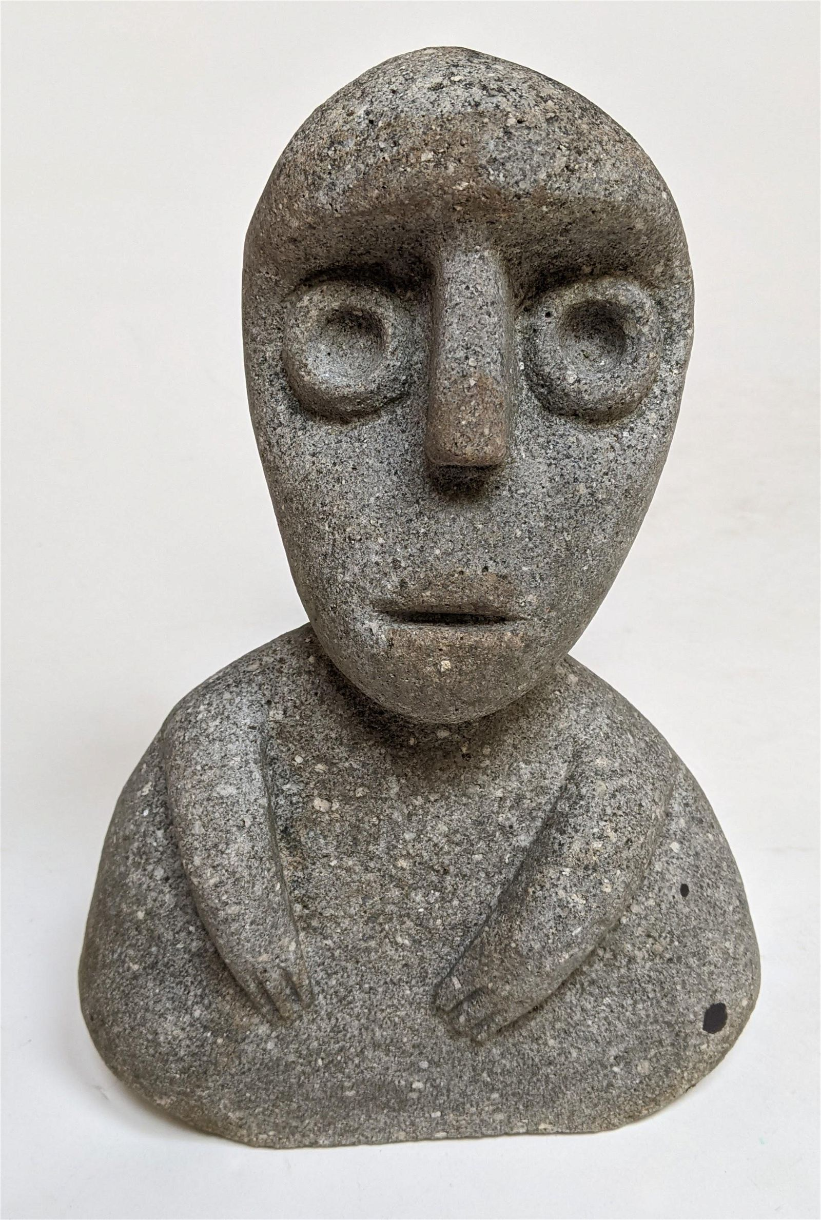Modern Stone Figure, Signed