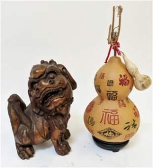 Chinese Composite Foo Dog & Fruit