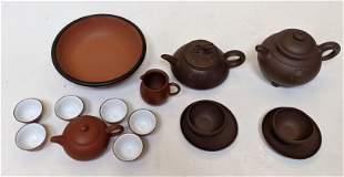 Partial Chinese Clay Tea Sets (13 pcs.)