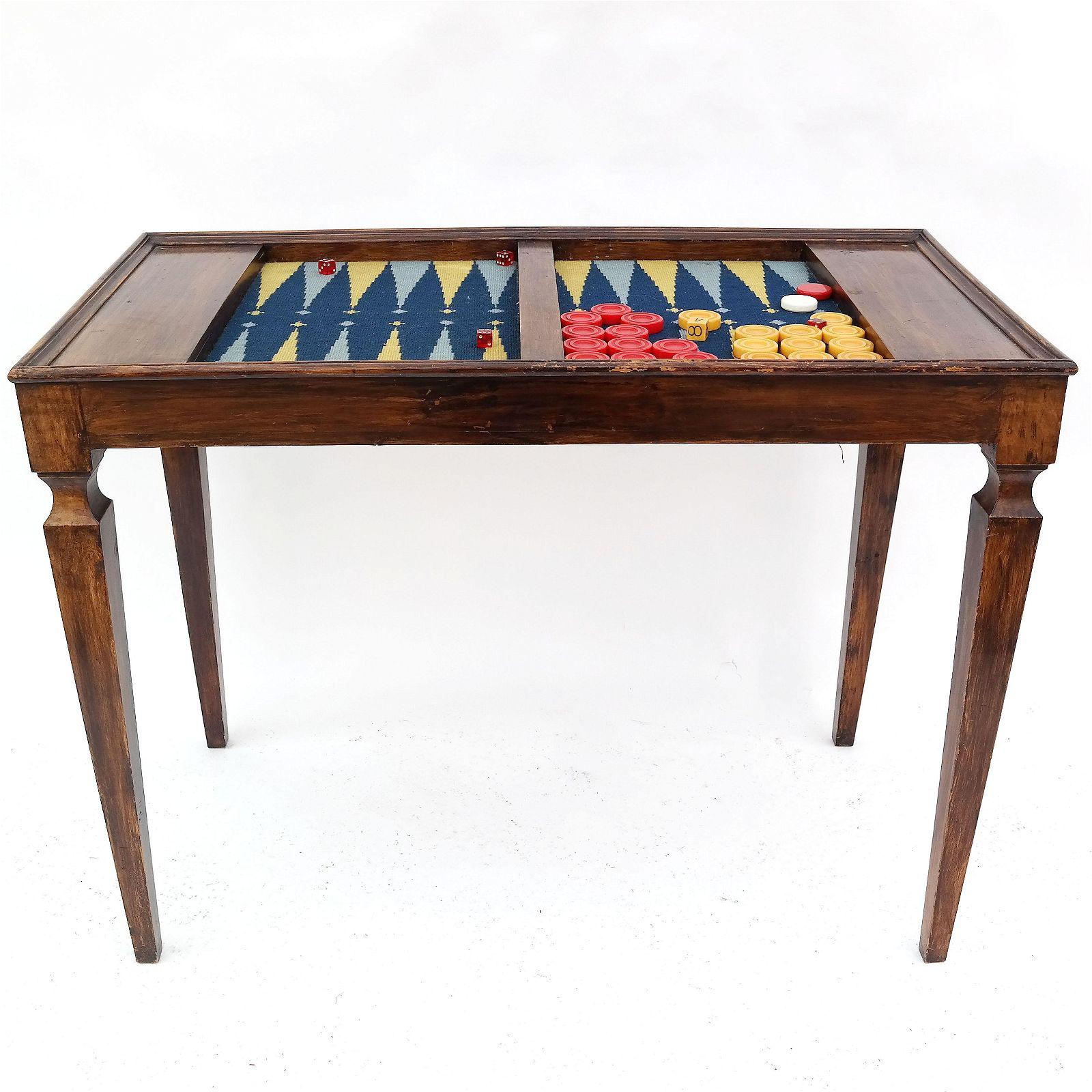 Mahogany Backgammon Table