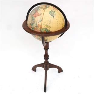 World Globe on Oak Stand
