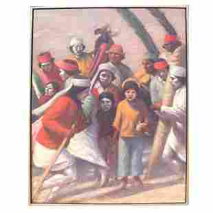 Elias RIVERA: Tarahumara Easter Dance - Painting