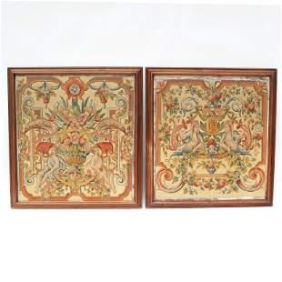 Pair of Allegorical Oil Paintings on Panel