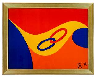 Alexander CALDER: Flying Colors II - Lithograph