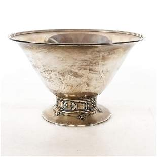 Tiffany & Co. Makers Sterling Silver Footed Bowl