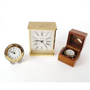 Three Table Clocks: Tiffany, Ebel, Poulet