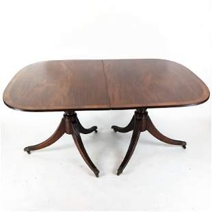 Regency Mahogany & Satinwood Dining Table