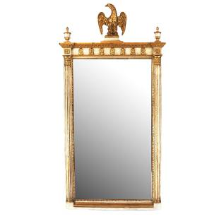 Classical-Style Gilt Painted Pier Mirror