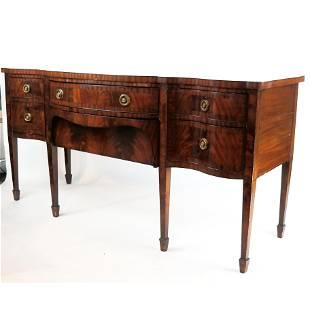 George III English Mahogany & Burl Sideboard
