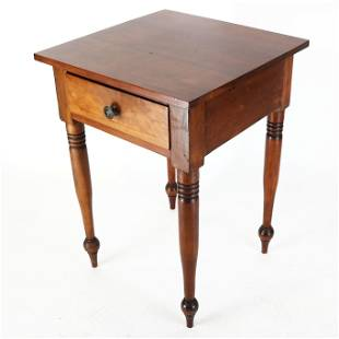 Late Federal Fruitwood Work Table