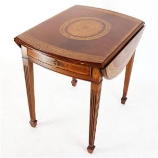 George III-Style Oval Drop-Leaf Pembroke Table