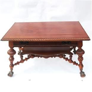 Victorian Mahogany Ball & Claw Foot Table