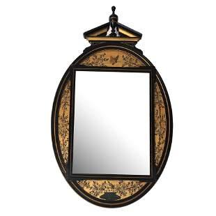 Gilt Wood Oval Mirror