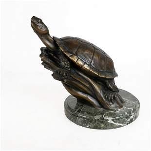 David H. TURNER: Turtle - Bronze Sculpture