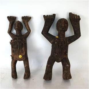 Two African Carved Standing Figures