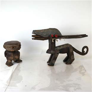 Two Carved African Figures