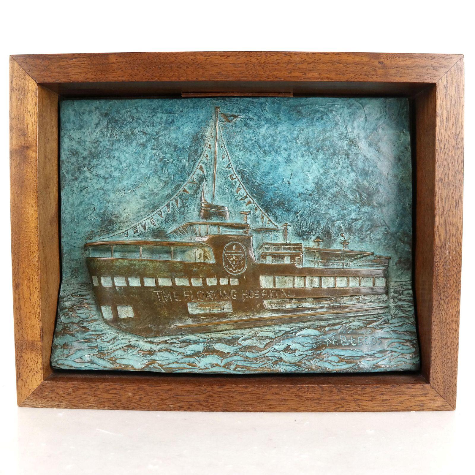 "Ceramic Relief Plaque ""Floating Hospital"""