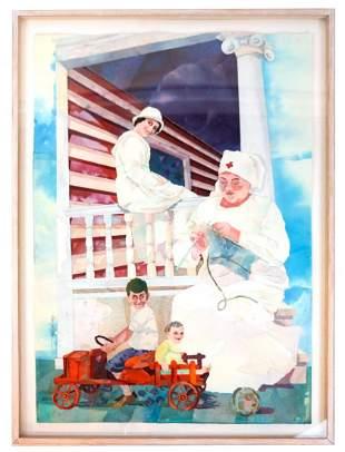 Marilyn COHEN: Knitting Nurse - M/M Painting