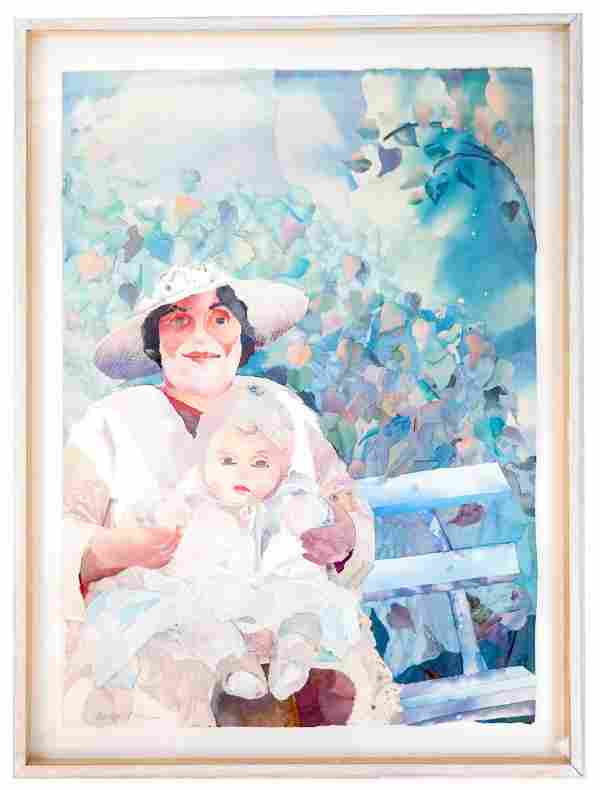 Marilyn COHEN: Mother & Baby - M/M Painting