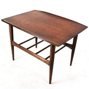 Danish Modern-Style Walnut Side Table