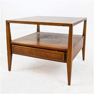 Mid-Century Modern Oak Two-Tier Table