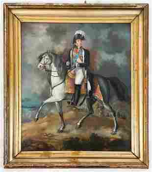 18th-19th C. Portrait of French Officer