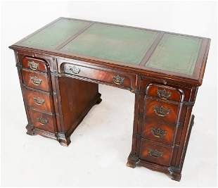 Chippendale-Style Block Front Desk